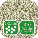 Rich Green lawn fertiliser 4-6 week longevity 1-2mm granule size