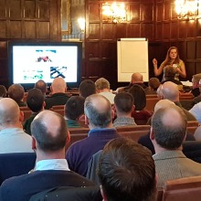Daisy Lacey speaks at the UK Lawn Care Association Conference in February 2017